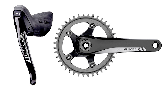 SRAM Rival 1 Brake Lever and Single Ring Crankset