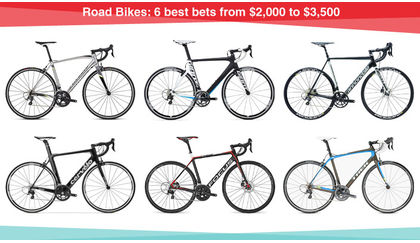 Read 'Road Bikes: 6 best bets from $2,000 to $3,500'