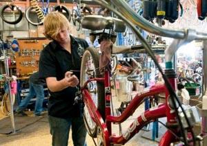 Service at a bike shop
