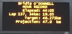 O'Donnell on track to break record at 44 minutes