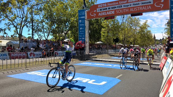 Young Caleb Ewan brings home the final stage win.