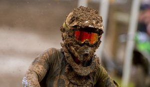 muddy helmet