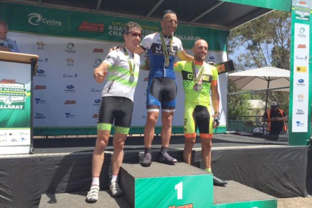 Jon Leighton wins AUS Gran Fondo 50-54 category