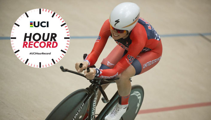 Evenly Stevens attempts to break the women's UCI Hour Record