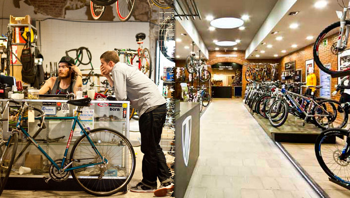 Bicycle store retail experiences - before and after