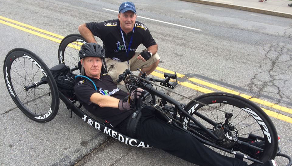 Handcycle athlete James DuBose and his autoshifting recumbent