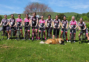 All female amateur road race team