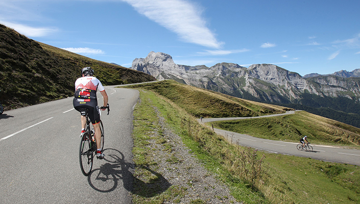 Europe views while riding the Haute Route