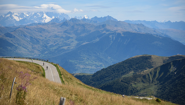Mountain views while riding the Haute Route