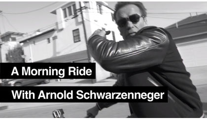 Video of the Day: A Morning Bike Ride with Arnold Schwarzenegger