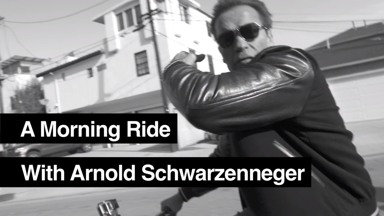 A Morning Bike Ride with Arnold Schwarzenegger