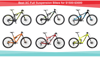 Best XC Full Suspension Bikes for $1500-$3000