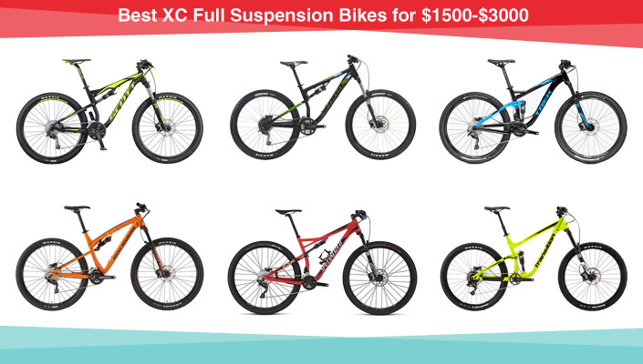 Best XC Full Suspension Bikes for $1500-$3000 by BikeRoar