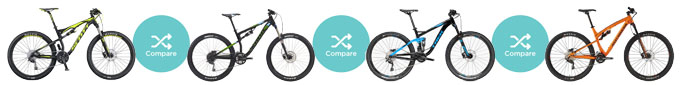 Compare First 4 best XC Full Suspension Bikes for $1500-$3000