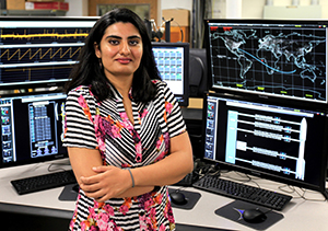 Hibah Rahmani avionics/flight control engineer for NASA