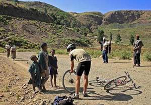 road side bike flat tire repair Ethiopia