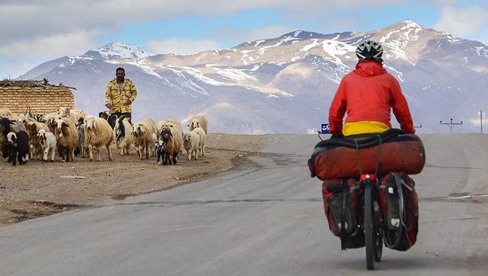 Cycling through beautiful Iran