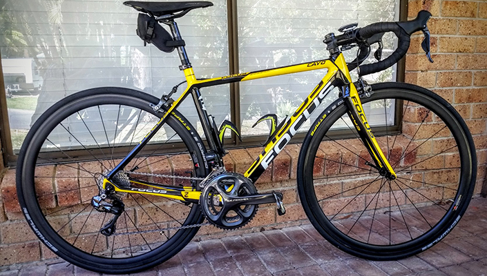 Focus Cayo with carbon wheels