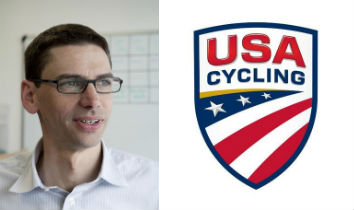 CEO Derek Bouchard-Hall and new USA Cycling logo