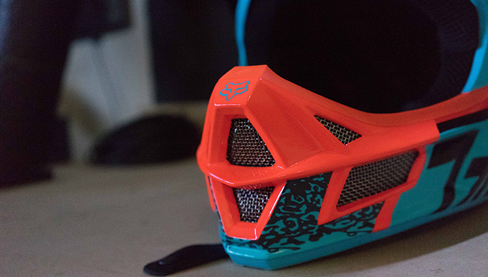 Vents of the Fox Rampage Pro Carbon MIPS helmet