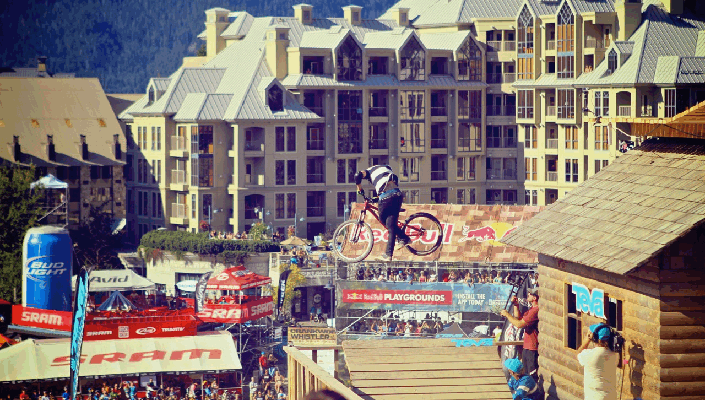 hotels overlooking the action of Crankworx Whistler
