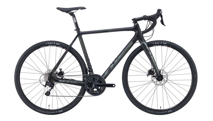 KHS 2016 Grit 440 road CX bike has sleek matte carbon fiber