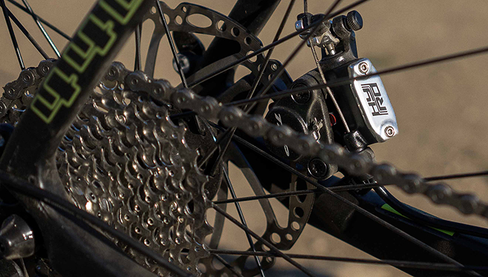 KHS Grit 440 Road Bike uses TRP hydro/mech brakes