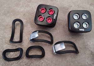 Knog The Mob Face with multiple straps