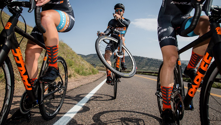 Compression socks by Swiftwick used by competition teams