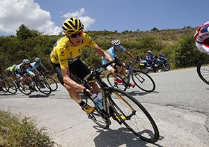 Froome cornering  2015 Tour de France
