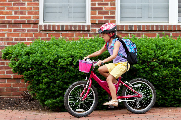 Biking to school can lead to happier children