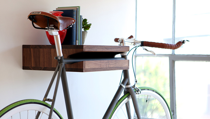Knife and Saw Bike Shelf