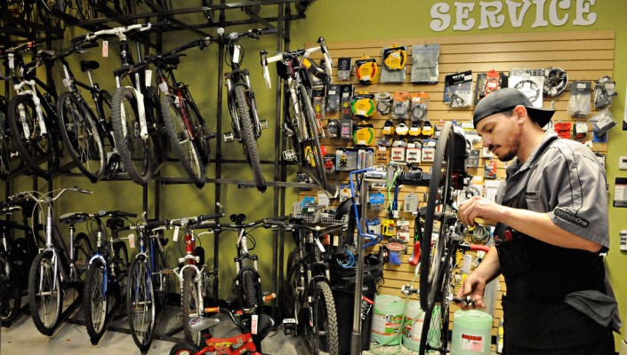 How to get faster and better service at a bike shop