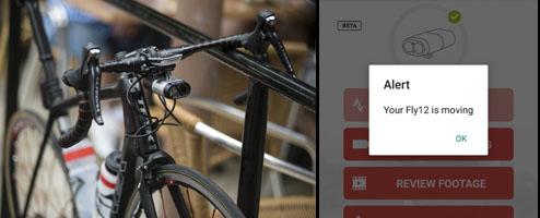 Fly12 protects your bike with a smart alarm