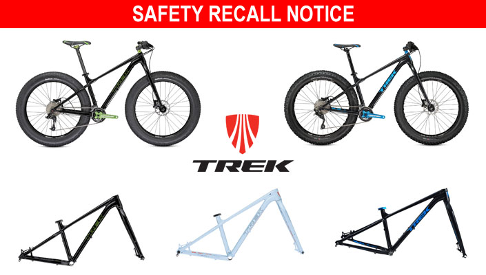 Trek recalls some Farley fat bikes due to fork issue.