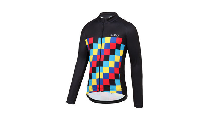 dhb Kids Checker Long Sleeve Fleece Jersey