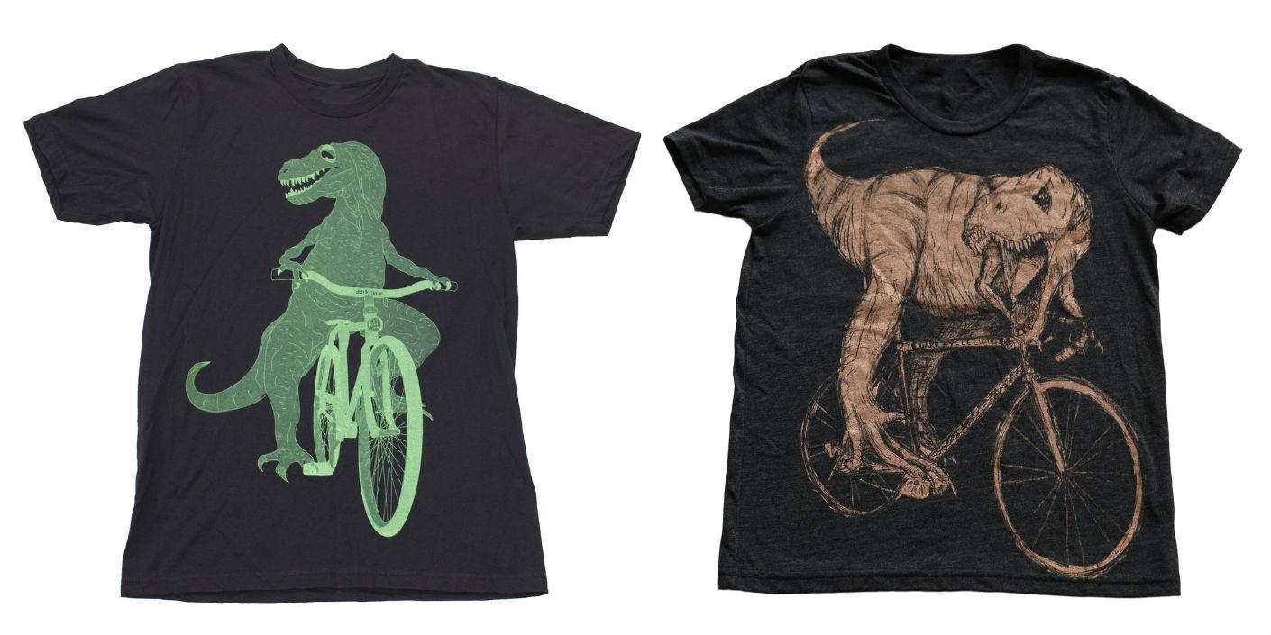 Dark Cycle T-Rex on a Bike T-Shirt