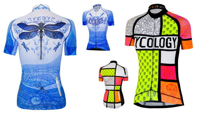Cycology Dragonfly and Mondrian Women's Jerseys