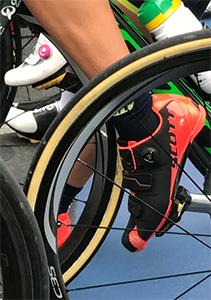 Gracie Elvin wearing Scott Road RC Cycling Shoes