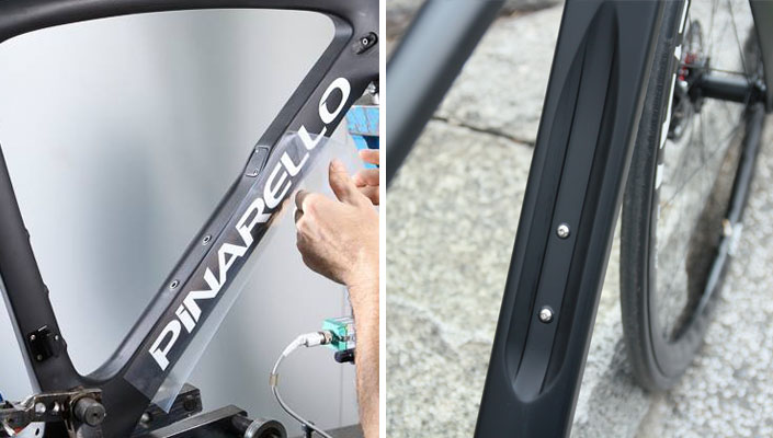 Pinarello Dogma F10 bike concave downtube design versus Velocite