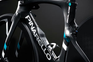 Pinarello Bollide TT with concave downtube design