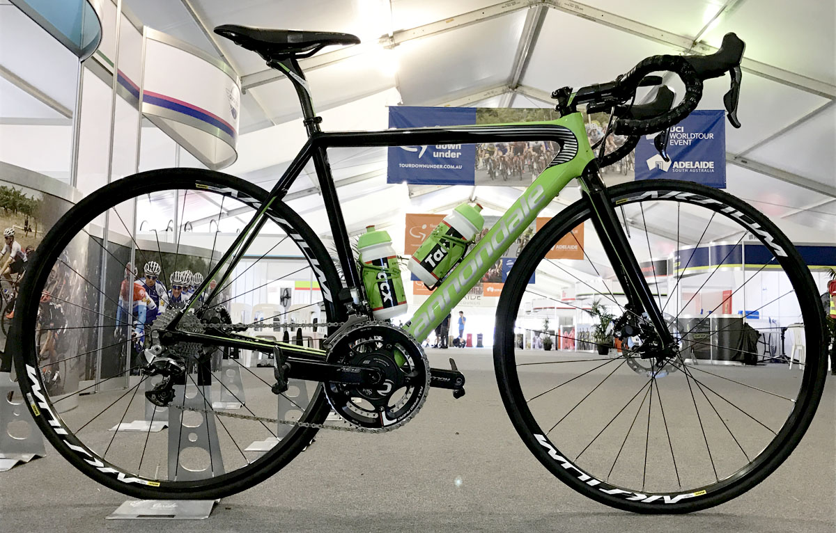 Cannondale-Drapac's SuperSix Evo Hi-MOD disc bike