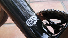 Made Here. on the Allied Cycle Works Alfa