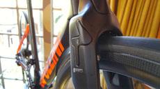 Integrated front brake of the Cipollini NKTT super aero carbon TT / tri bike