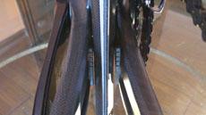 Integrated rear brake of the Cipollini NKTT super aero carbon TT / tri bike