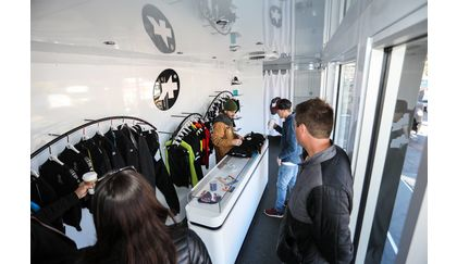 Assos mobile store / pop-up shop / trailer at PressCamp Road 2017