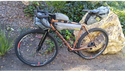 Ridley X-Trail Adventure alloy loaded with Apidura bikepacking bags