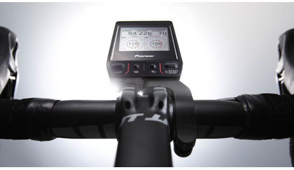 Pioneer power meter computer on handlebars