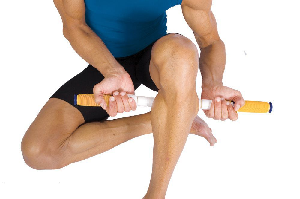 Self-massage with a massage stick called 'The Stick'