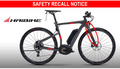 Haibike recalls several models due to fork issue